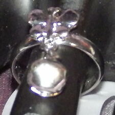 New Toe Ring Stainless Steel Butterfly Bell Tassel Open Adjustable for Women