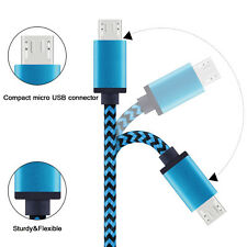 Blue 3M / 10FT Nylon Braided Micro USB Charger Data Sync Cable for HTC LG G5