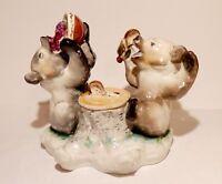 Die Bären,Tintenfaß,Porzellan Figur,Lomonosov,LFZ,russische Porzellan,50er,UdSSR