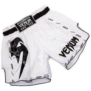 Venum Muay Thai Shorts - Giant White & Black (XL)