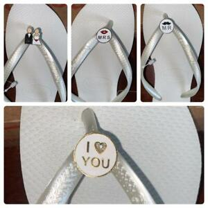 Bride Havaianas Wedding Just married / Mr & Mrs / I Love You / Crystal