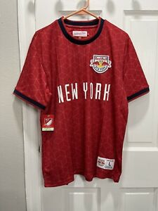 Mitchell & Ness New York Red Bulls Equalizer Soccer MLS Jersey Men's Large 🔥