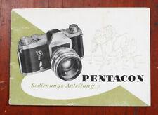 Pentacon Instruction Book, In German/207072