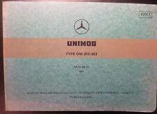 Mercedes Unimog Motoren OM352 + OM353 Ersatzteilkatalog