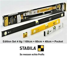 Stabila Limited Wasserwagen-Sets 1889 Edition - 120+60+40cm + Pocket Set