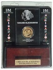 Chicago Blackhawks NHL 24KT Gold Coin Wood & Acrylic Display