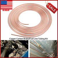 """Univesal Steel Copper Brake Line Tubing Kit 3/16"""" of 25Ft Coil Roll For All Auto"""