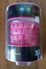 iHome Flexible Portable Travel USB Enabled Keyboard for Windows Pink