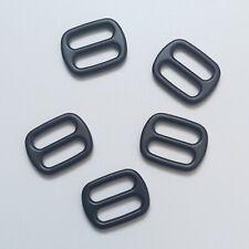 "20mm 3/4"" Quality Metal Tri Glide Matt Black Bag Collar Buckle Leather Craft"