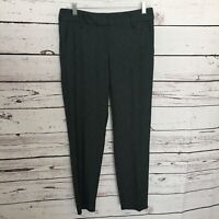 Ann Taylor LOFT Sz 2 Marisa Straight Gray Dress Pants Career Ankle Slim Leg G100