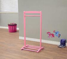 Kids Clothes Hanger Free Standing Girls Pink Children Coat Rack Garment Stand