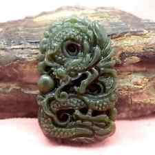 Amulet Pendant Dragon Jade Stone Unique Rare Jewelry For Luck Authentic Treasure