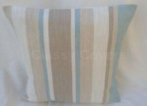 "Laura Ashley Designer Cushion Cover ""AWNING STRIPE"" Duck Egg Various Sizes"