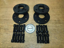 2 Pair 5x112 Hubcentric Spacers 15 & 20mm Wide 66.5CB 20 Wheel Bolts AUDI BLACK