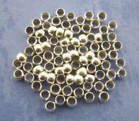 LOT de 200 PERLES rondes à écraser 3mm ARGENTE création bijoux