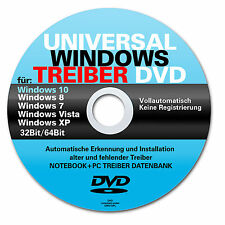 Universal Treiber CD/DVD für Windows 10 / 8 - XP- Vista - W7 -Windows 7