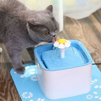Automatic Cats Dog Water Fountain Drinking Feeder Pet Bowl Dish Filter Dispenser