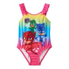 NEW PJ Masks Toddler Girl Bathing Swim Suit size 2T Owlette Gekko Catboy 1 Piece