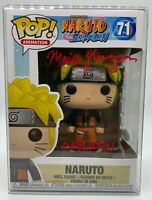 FUNKO POP NARUTO SHIPPUDEN VOICE ACTOR AUTOGRAPHED RED INK JSA CERTIFIED IN HAND
