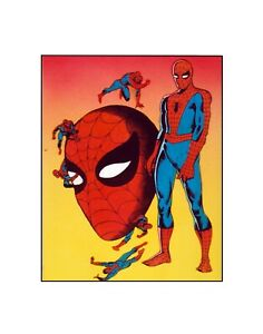 Portrait of the Amazing Spider-Man Silver Age style Marvel Comics Sericel