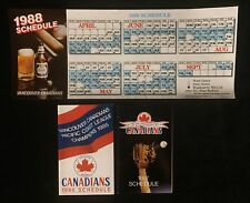 1986, 87, 88 VANCOUVER CANADIANS AAA PCL POCKET SCHEDULES MILWAUKEE BREWERS AFF