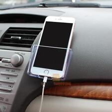 Car Auto Universal Phone Holder Storage Box Plastic Transparent Case Organizer