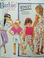 Simplicity 7125 Girls Barbie Girl Bottoms Top sewing  pattern size 7-14 New 1991