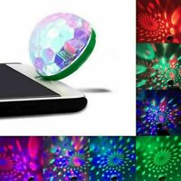Mini USB RGB LED Stage Lamp Remote Controls Disco Ball Lights Party Home Car Hot