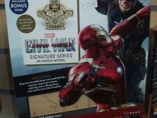 IncrediBuilds Marvel Civil War Iron Man 3D Wood Model and Booklet New!