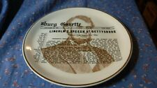 Collector Plate Lincoln's Speech at Gettysburg with Lincoln in Profile in Backgr