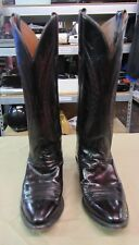 Lucchese Cowboy Boots Black Cherry Red Goat Leather 5.5 B Womens L796724