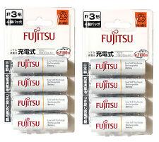 8 AA Rechargeable Batteries Fujitsu Made in Japan 1900mAh AA Eneloop Batteries