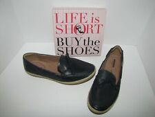 NWOB Clarks Navy Boat Moc Shoes - 11W