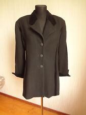 NINA RICCI Vintage women's black jacket Sz.L 100% wool Made in France