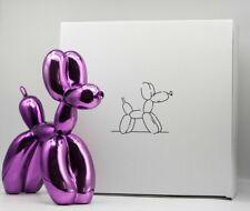 Purple balloon dog - (limited /999-Mint condit + COA) - not banksy no kaws koons