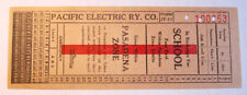 Vintage Pacific Electric Railway Co. Pasadena CA. Streetcar & Trolley Transfer