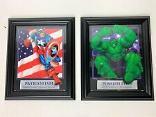Set of 2 Marvel Incredible Hulk & Captain America 8X10 Frame Picutre Frames 2004