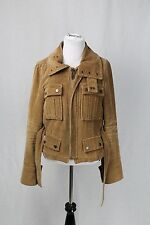 DSquared2 Tan Corduroy Belted Jacket Size 42 Made In Italy