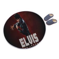 Elvis Presley Anti-Rutsch Rund Bereich Teppich Boden Matte y91 v0004