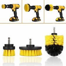 3Pcs Round Full Electric Bristle Drill Brush Rotary Cleaning Tool Set Attachment