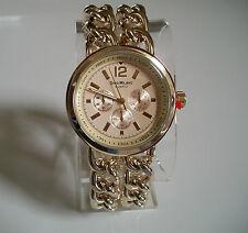 Designer look gold finish bracelet chain style  Boyfriend fashion watch