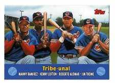 2000 Topps Combos #1 Manny Ramirez Kenny Lofton Roberto Alomar Jim Thome Indians