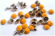 SUPER OFFERTA 120pz borchie sfuse a cono con rivetto colore arancio diametro 8MM