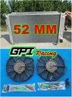 aluminum radiator for Ford EF EF2 EL NF NL DF DL Falcon Fairline + 2 × FANS