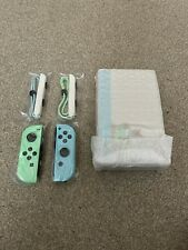 Animal Crossing Edition Nintendo Switch Joy-Cons + Straps + TV Dock - Brand New!