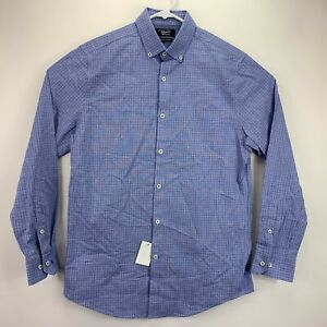 Original Penguin Mens Heritage Slim Fit Windowpane Check Dress Shirt 15 32/33