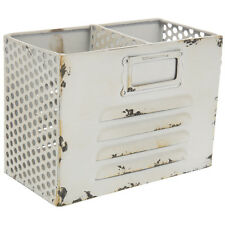 Rustic White Locker Box Organizer. SHABBY CHIC HOME DECOR
