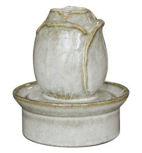 Ceramic Zen Garden Tulip Water Fountain, Complete Kit. Includes Pump