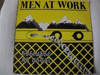 MEN AT WORK BUSINESS AS USUAL VINYL LP 1982 COLUMBIA RECORDS FC 37978, STEREO