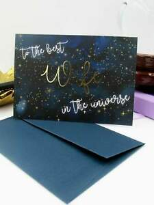 Gold Foil Wife Card Greetings Card For The Best Partner In The Universe